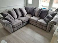 BRAND NEW NICHOLE PLUSH CORNER & 3+2 SEATER SOFA SET AVAILABLE IN STOCK ORDER NOW...!!!!!!