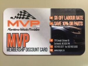 MVP -  Discount Card (Complete Vehicle Parts & Service)