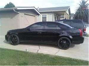 2003 CADILLAC CTS SUPER COOL BLACK WHEELS AND BLACK LEATHER