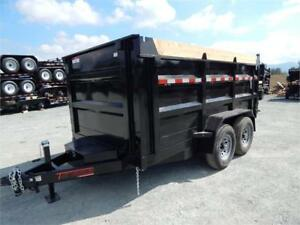 NEW 7x12 14,000lb 4' HIGH SIDE MIRAGE DUMP TRAILER