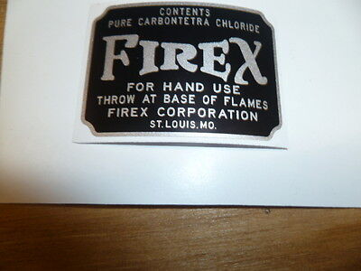Decal/ Sticker For Firex Glass Fire Extinguisher