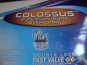 Sevylor Colossus 2 Person Boat with Oars-NEW-Holds 435 lbs SNOW? London Ontario image 2