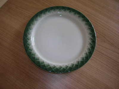 Thomas Holiday Kuchenteller Frühstücksteller  weiß grün Quadrate