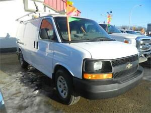 2012 CHEVY EXPRESS CARGO VAN/LADDER RACKS