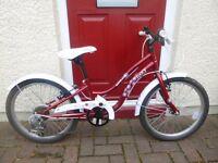 "Girls bike for sale. 20"" wheel Apollo Ivory Cruiser(5-8 years)"
