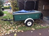 Braked trailer 2.70 overall length 1.00 width hard and soft covers, thule accessories.
