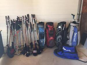 gold clubs and equipment