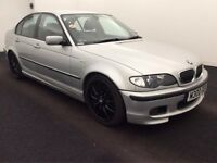 2002 BMW 330d SPORT - SILVER - BLACK LEATHER - MANUAL - BLUETOOTH - CD PLAYER - 2 KEYS - NEW MOT
