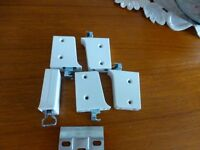 Kitchen cupboard hanging brackets and plates