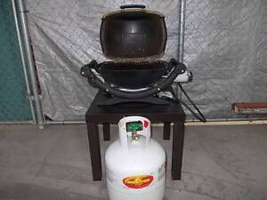 WEBER Q-100 *with gas bottle and BBQ cover Sydenham Marrickville Area Preview