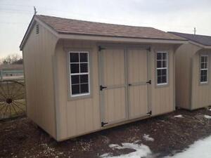 8'x12' Double Door Shed - Low Maintenance
