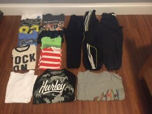 BUNDLE OF CLOTHES FOR BOYS 8 TO 10 YRS OLD.  SOME NEW