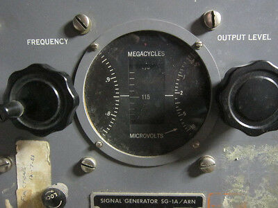 Us Military Sg-1a Aviation Signal Generator 88 - 140 Mhz Pp-348 Power Supply