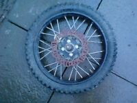 Pit Bike Front Wheel, 14inch, Comes with Disc and Decent Tire, £20, contact 07763119188