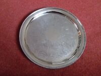 Mappin and Webb Silver Plated Tray/Salver/Plate