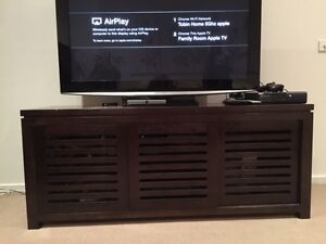 Dark Wood TV Entertainment Cabinet Seaforth Manly Area Preview