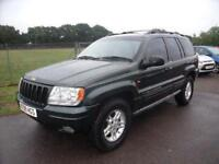 JEEP GRAND CHEROKEE LIMITED V8 - AUTO - PX TO CLEAR - Green Petrol, 1999