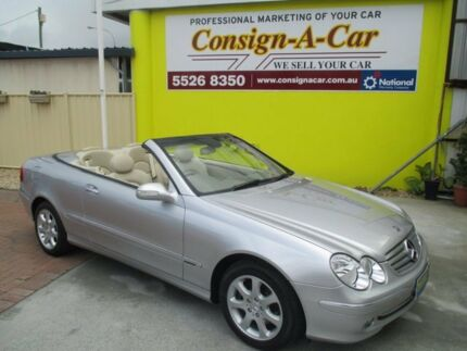 2004 Mercedes-Benz CLK240 A209 MY05 Elegance Silver 5 Speed Automatic Cabriolet