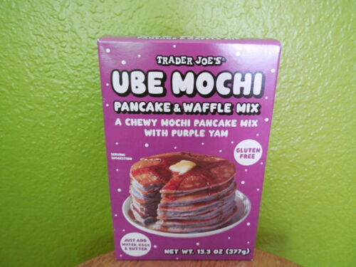 NEW Trader Joe's Ube Mochi Pancake Waffle Mix Fresh 2021 Edition