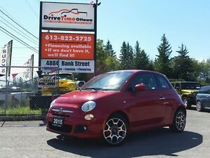 2015 Fiat 500 SPORT  AUTOMATIC, POWER GROUP and A/C