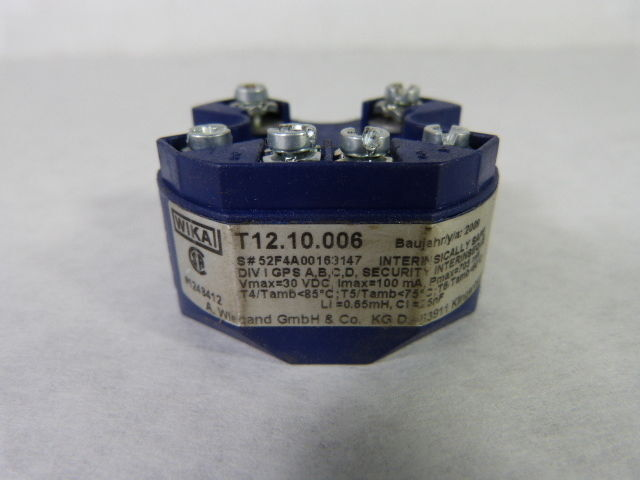 Wika T12.10.006 Digital Temperature Transmitter  USED