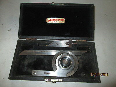 Machinist Mill Lathe Starrett Protractor Gage Gauge In Case