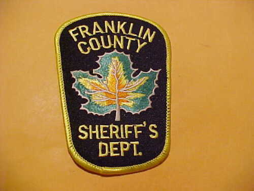FRANKLIN COUNTY VERMONT POLICE PATCH SHOULDER SIZE UNUSED