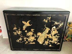 Oriental mother of pearl cabinet