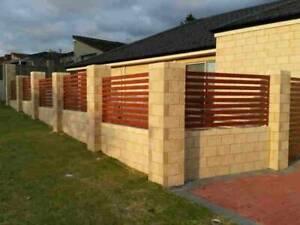 Brick boundary walls & carport enclose by experienced Perth bricklayer