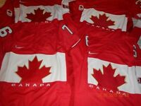 *** NEW - TEAM CANADA HOCKEY JERSEYS - M, L, XL - $60 ea.