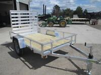 UTILITY 5 X 8 TRAILER - GREAT FOR ATV'S AND BIKES - ALUMINUM -