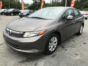 2012 Honda Civic Sdn LX, NEW MVI, LOW KMS, NEW TIRES,