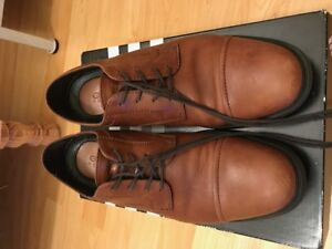Geox Respira Brown Leather Shoes Men Sz 8