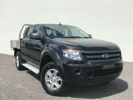 2014 Ford Ranger PX XLS Double Cab Black 6 Speed Sports Automatic Utility