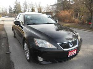 2008 Lexus IS 250 Auto, 160 kms Fully loaded, s.roof $6995