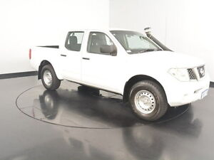 2011 Nissan Navara D40 RX White 6 Speed Manual Utility Victoria Park Victoria Park Area Preview