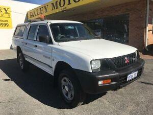 2002 Mitsubishi Triton MK GLX White Automatic Utility Armadale Armadale Area Preview