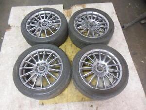 Subaru WRX STI Fitment 5x114 JDM Wheels Tires Jante 17X7