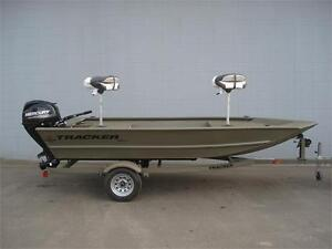 2015 Tracker 1448 Grizzly 25HP ES Green