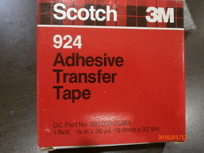 Four 4 3m Scotch 924 Adhesive Transfer Tape Double Sided Stick 34 36 Yards