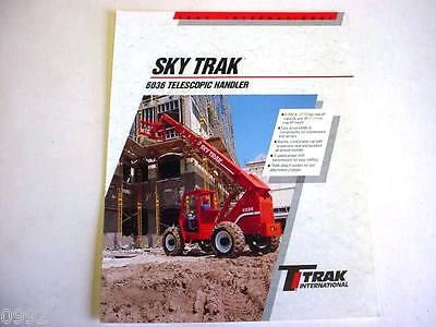 Sky Trak 6036 Telescopic Handler Forklift 1995 2 Pages Brochure
