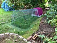 Omlet Eglu Go chicken run, 2 metres - with clear waterproof cover (used for 2 weeks only!)