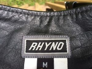 Rhyno Black motorcycle chaps