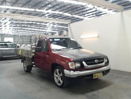 2002 Toyota Hilux RZN149R Burgundy 5 Speed Manual Cab Chassis