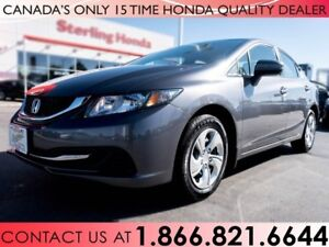 2015 Honda Civic LX | NO ACCIDENTS | 1 OWNER | LOW KM'S
