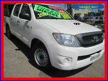 2010 Toyota Hilux KUN16R 09 Upgrade SR White 5 Speed Manual Dual Cab Pick-up Canada Bay Canada Bay Area Preview
