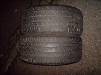 225.40.18 rapid p609 92w extra load x2 part worn. Still got 4-5mm tread on both