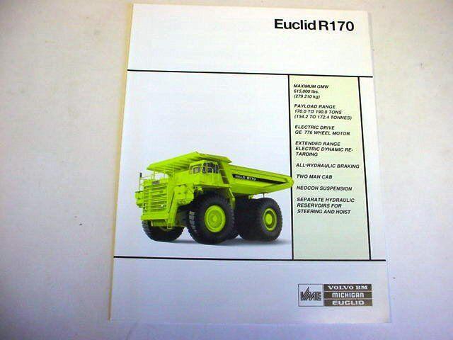 Euclid R170 Hauler Truck Literature