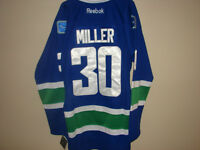 #30 RYAN MILLER VANCOUVER CANUCKS HOME BLUE JERSEY SIZE LARGE
