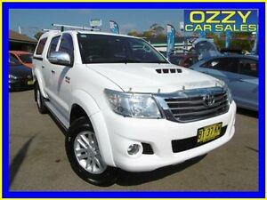 2013 Toyota Hilux KUN26R MY12 SR5 (4x4) Glacier White 4 Speed Automatic Dual Cab Pick-up Penrith Penrith Area Preview